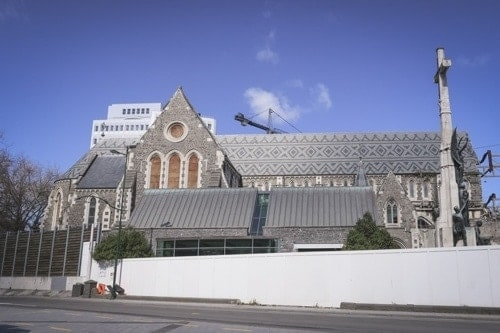 Christchurch Cathedral shape picture